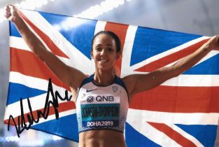 Athletics Katerina Johnson Thompson signed 6x4 colour photo.