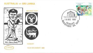 Cricket Australian FDC issued for the Test match Australia v Sri Lanka Hobart 1989.
