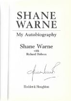 Cricket Shane Warne signed hardback book titled My Autobiography. 317 pages