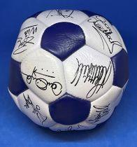 Football Queens Park Rangers Legends multi signed full size football.
