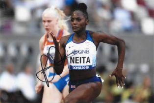 Olympics Daryll Neita signed 6x4 colour photo.