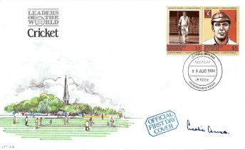 Cricket Les Ames signed Cricket Leaders of the World FDC.
