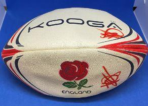 Rugby Union Manu Tuilagi signed England Kooga full size Rugby Ball.