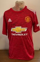 Football Anthony Martial signed Manchester United replica home shirt.