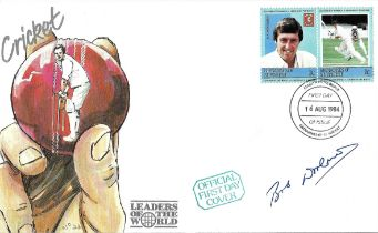 Cricket Bob Woolmer signed Cricket Leaders of the World FDC.