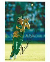 Cricket Shaun Pollock signed 10x8 South Africa colour photo.