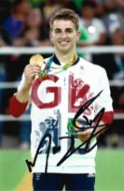 Olympics Max Whitlock signed 6x4 colour photo.
