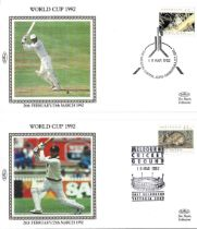 Cricket pair Australian FDC issued for the 1992 World Cup unsigned.