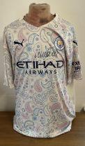 Football Kyle Walker signed Manchester City replica away shirt.