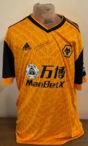Football Nuno Espirito Santo signed Wolverhampton Wanderers replica home shirt.