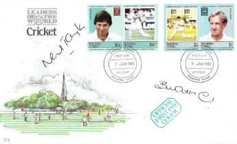 Cricket Neil Taylor and Bill Athey signed Cricket Leaders of the World FDC.