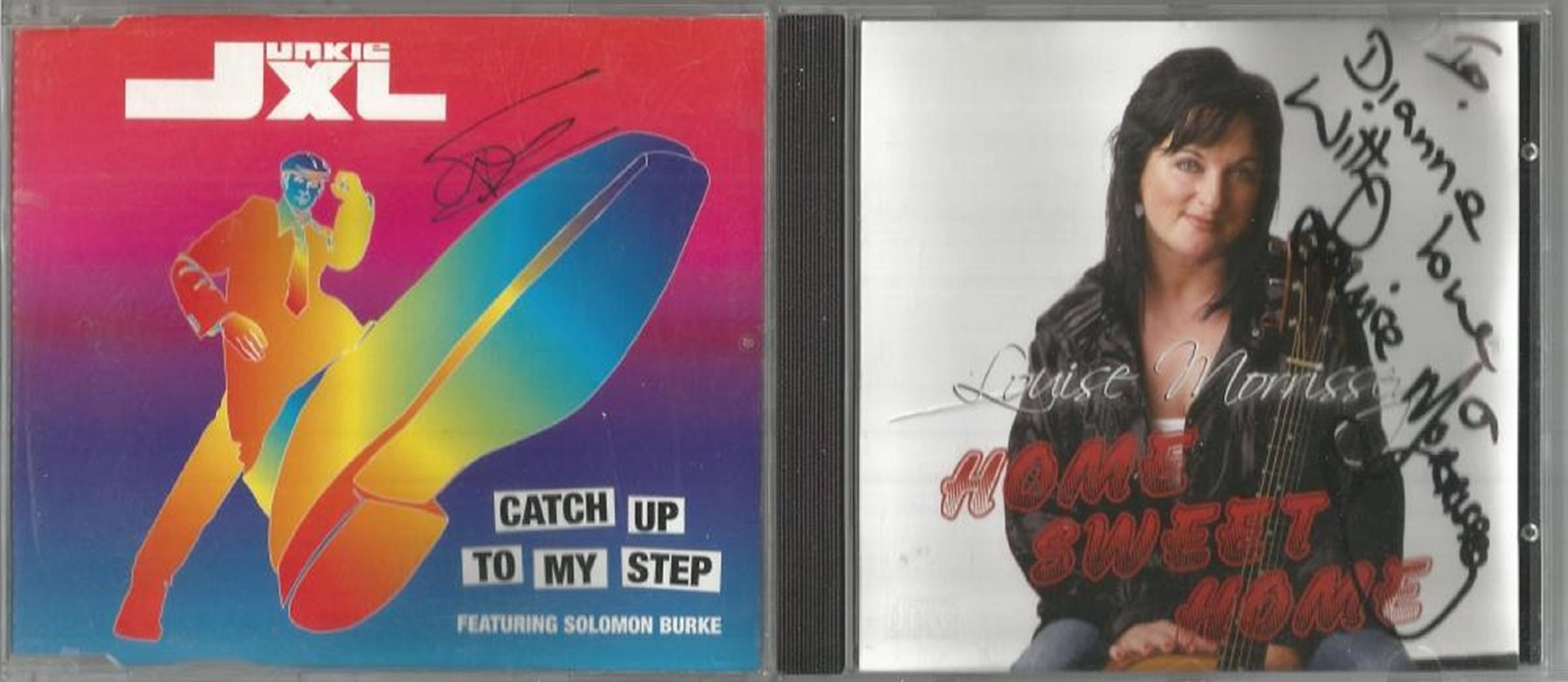 6 Signed CDs Including Emily Levy Lost and Found Disc Included, Junkie XL Catch up to my Step Disc