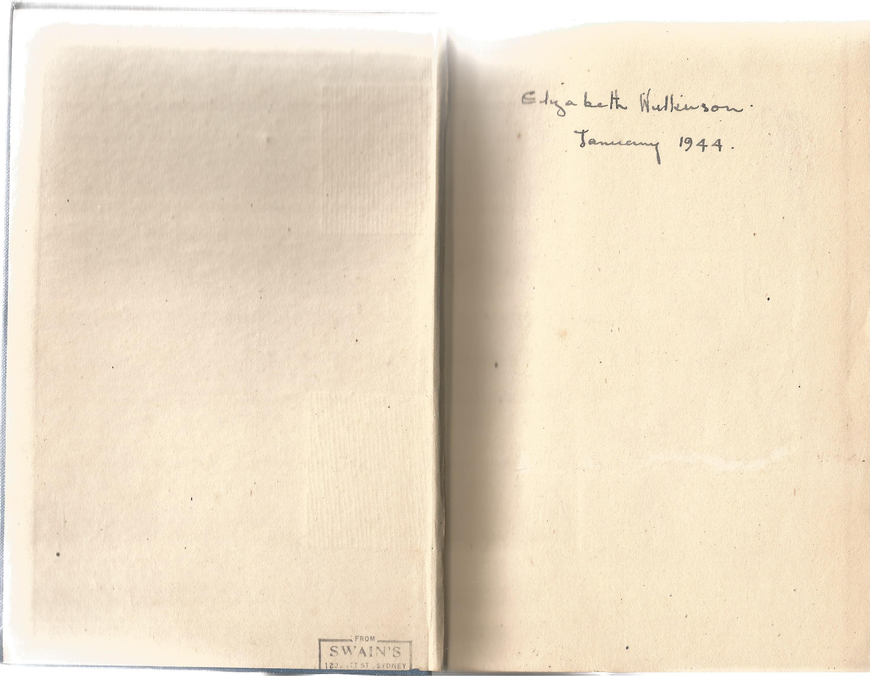 Richard Hillary. The Last Enemy. A Signed hardback book. Signed inside by an Elizabeth Wilkinson
