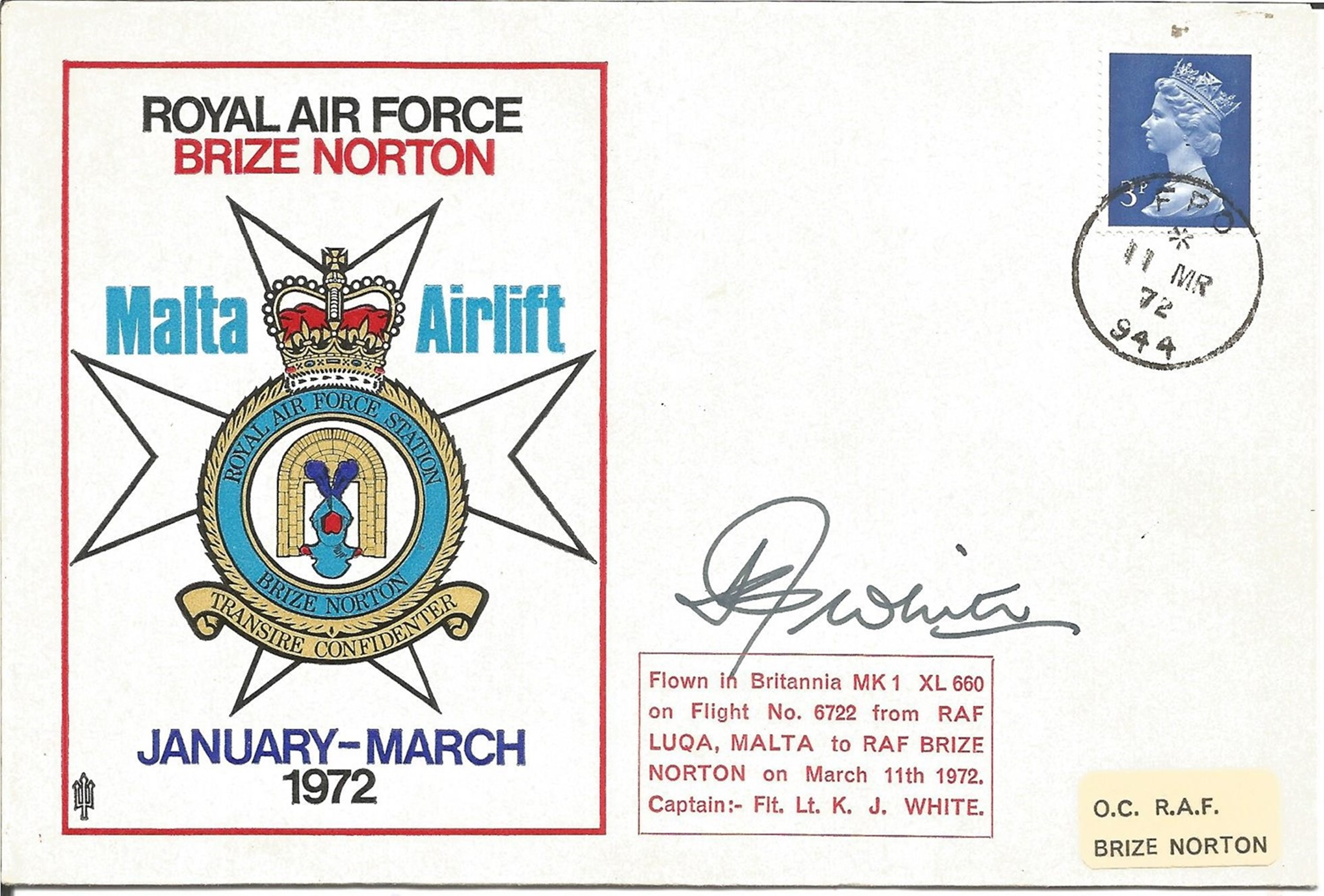 Collection of 5 Flown FDC, 4 Signed One of which Multi Signed JS CC 10, Includes RFDC 85, JSF 12, - Image 3 of 3