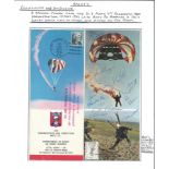Historical Aviation Collection Comprising of Signed by Designer, Picture of Airship, Signed US
