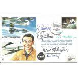 WW2 Luftwaffe aces multiple signed A. Scott Crossfield FDC. Five inc Gerd Achgelis, W Trenkle, W