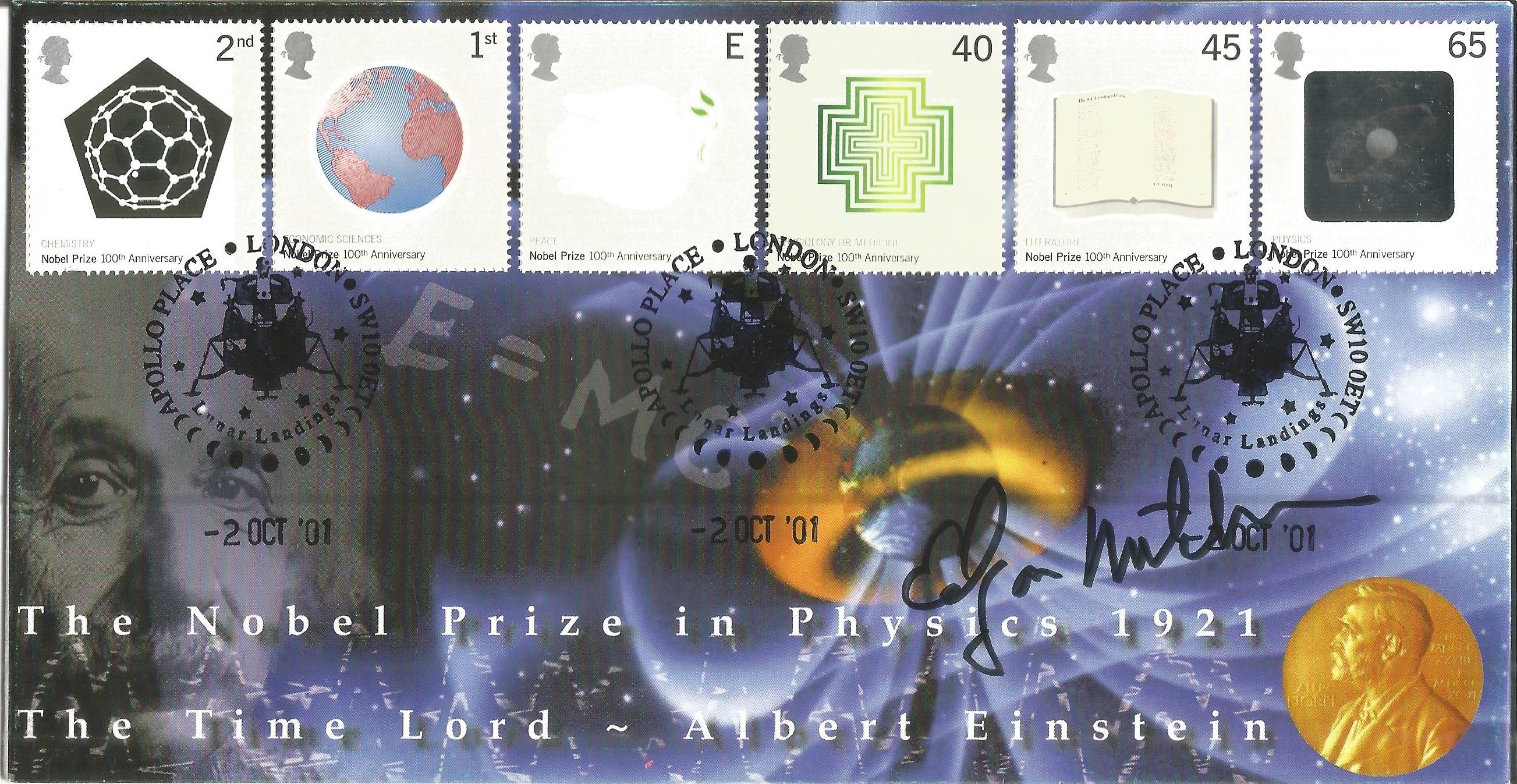 Space Moonwalker Dr Edgar Mitchell NASA Astronaut signed Internetstamps official FDC 2007 Space.