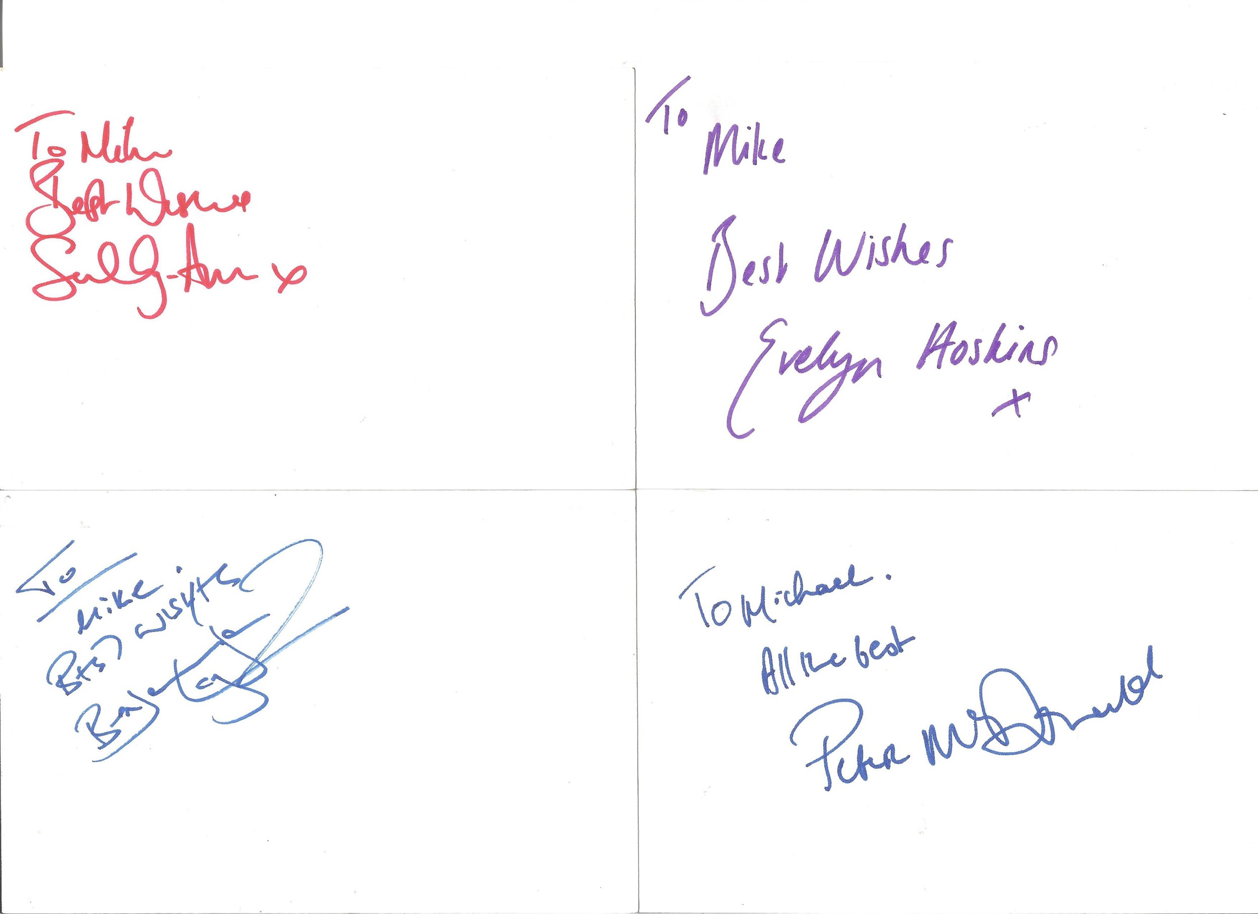 Collection of 50 Actor and Actress Signed 6 x 4 White Cards, Including Peter McGovern, Paul - Image 4 of 4