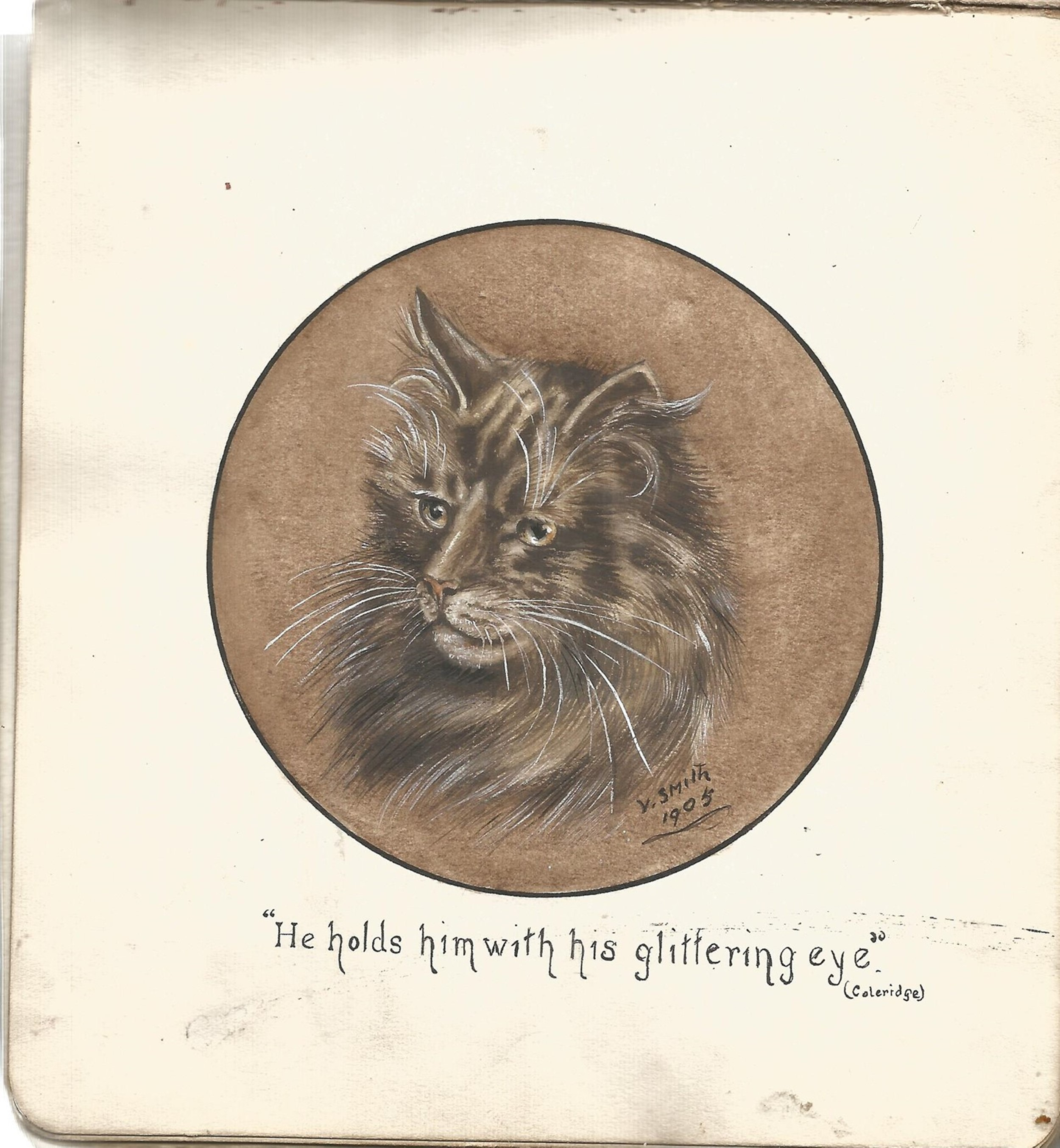 Autograph book collection includes over 20 vintage sketches, doddles and postcards may yield good - Image 4 of 4
