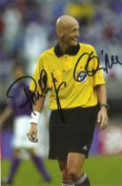 Pierluigi Collina signed 6x4 colour photo. Italian former football referee. He was named FIFAs