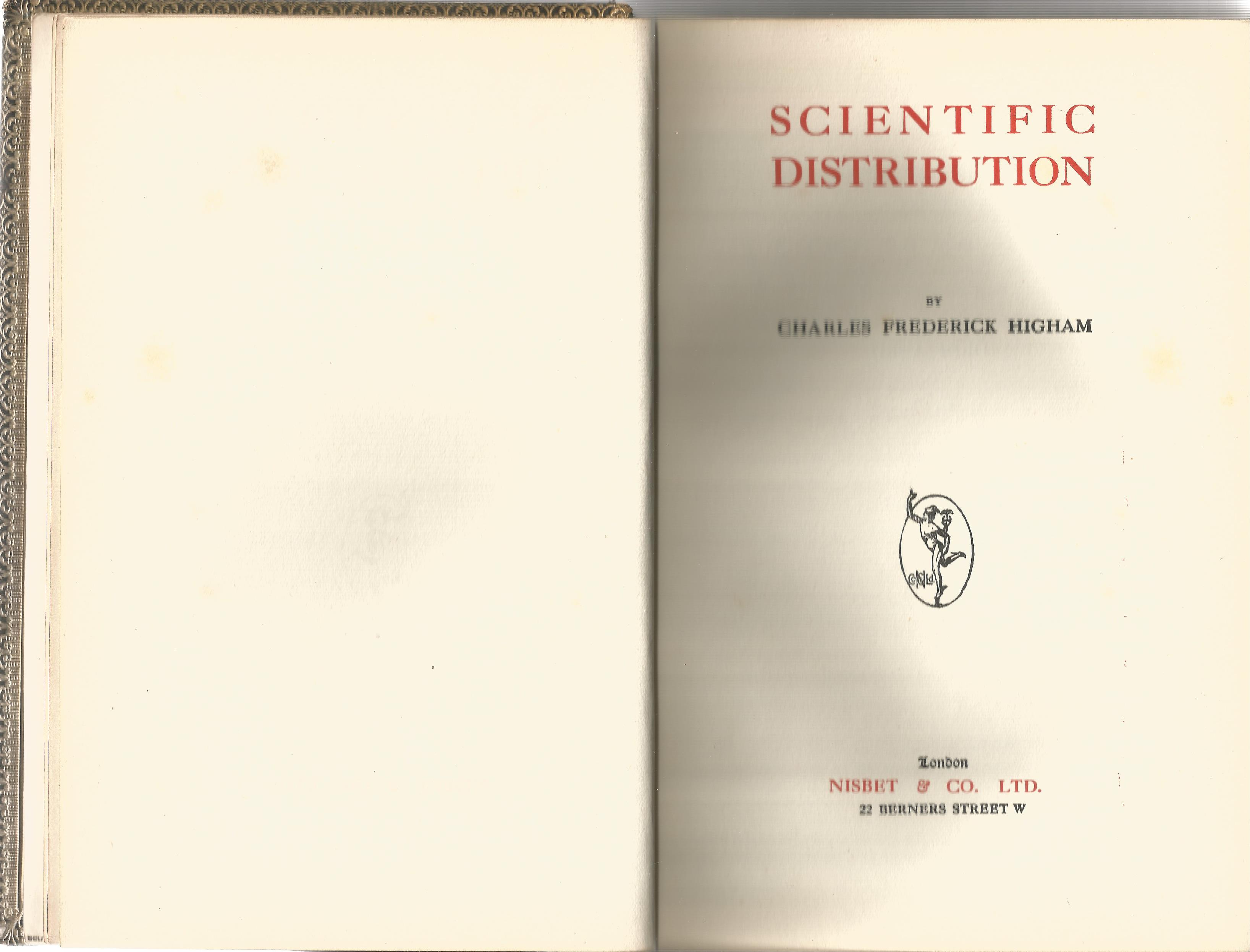 Charles Frederick Higham. Scientific Distribution. A Second Edition hardback book. Signed by Charles - Image 2 of 3