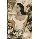 Dorothy Dandridge signed 6x4 vintage postcard picture. Good condition. All autographs come with a