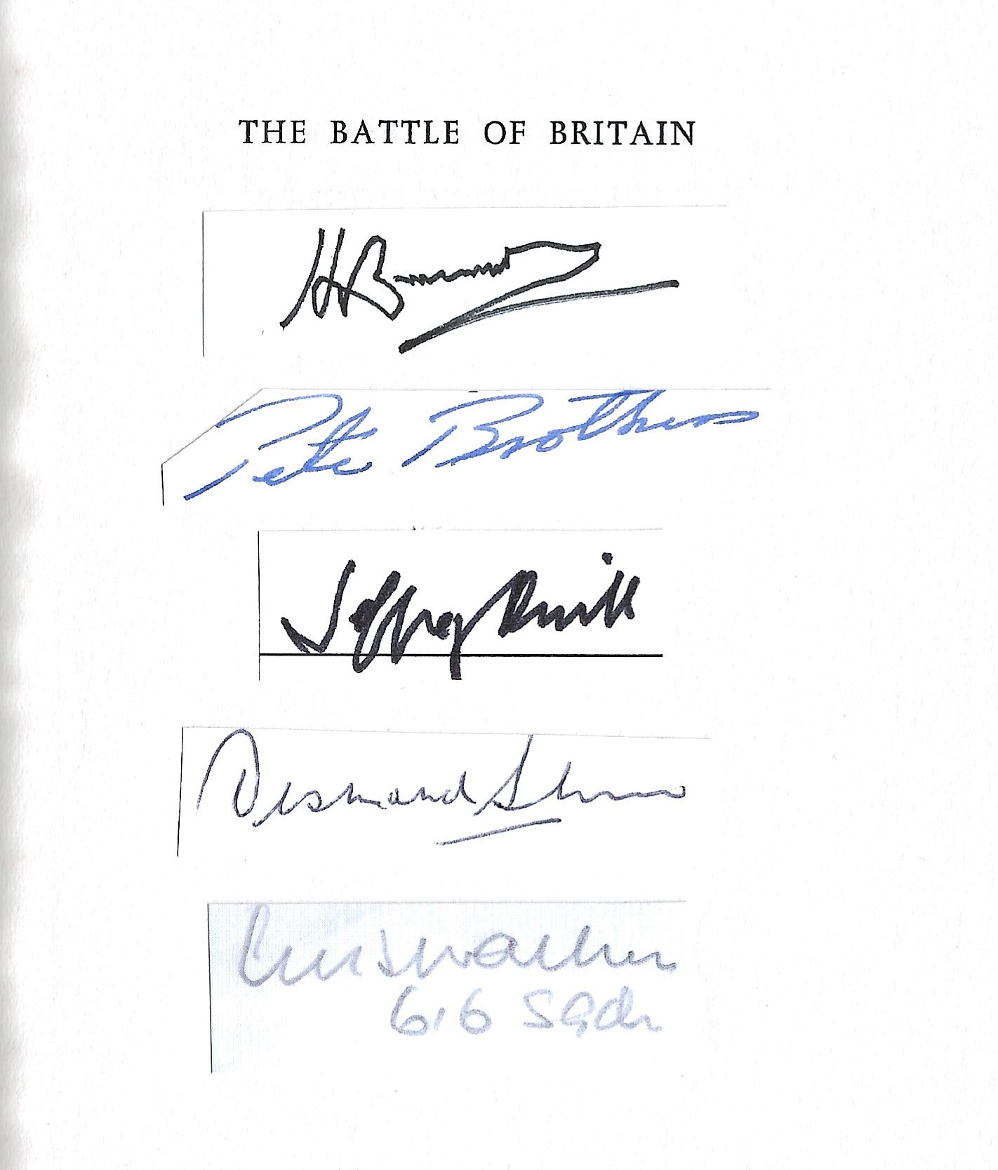 Edward Bishop. The Battle of Britain. A WW2 hardback book, showing early signs of age. Multi - Image 2 of 2