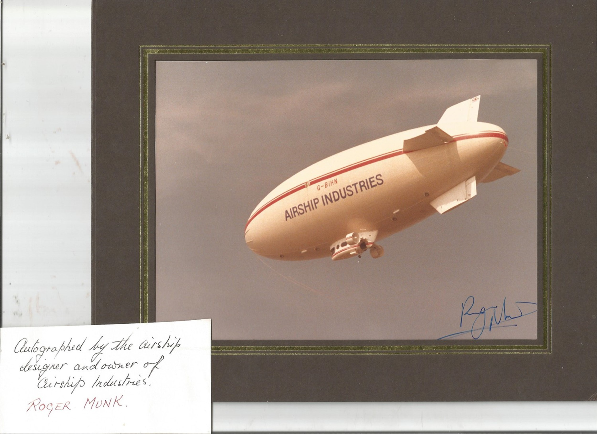 Historical Aviation Collection Comprising of Signed by Designer, Picture of Airship, Signed US - Image 3 of 3