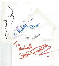 Bargain collection 17. 50 Actor and Actress signed cards from in person collector unsorted. Signed 6