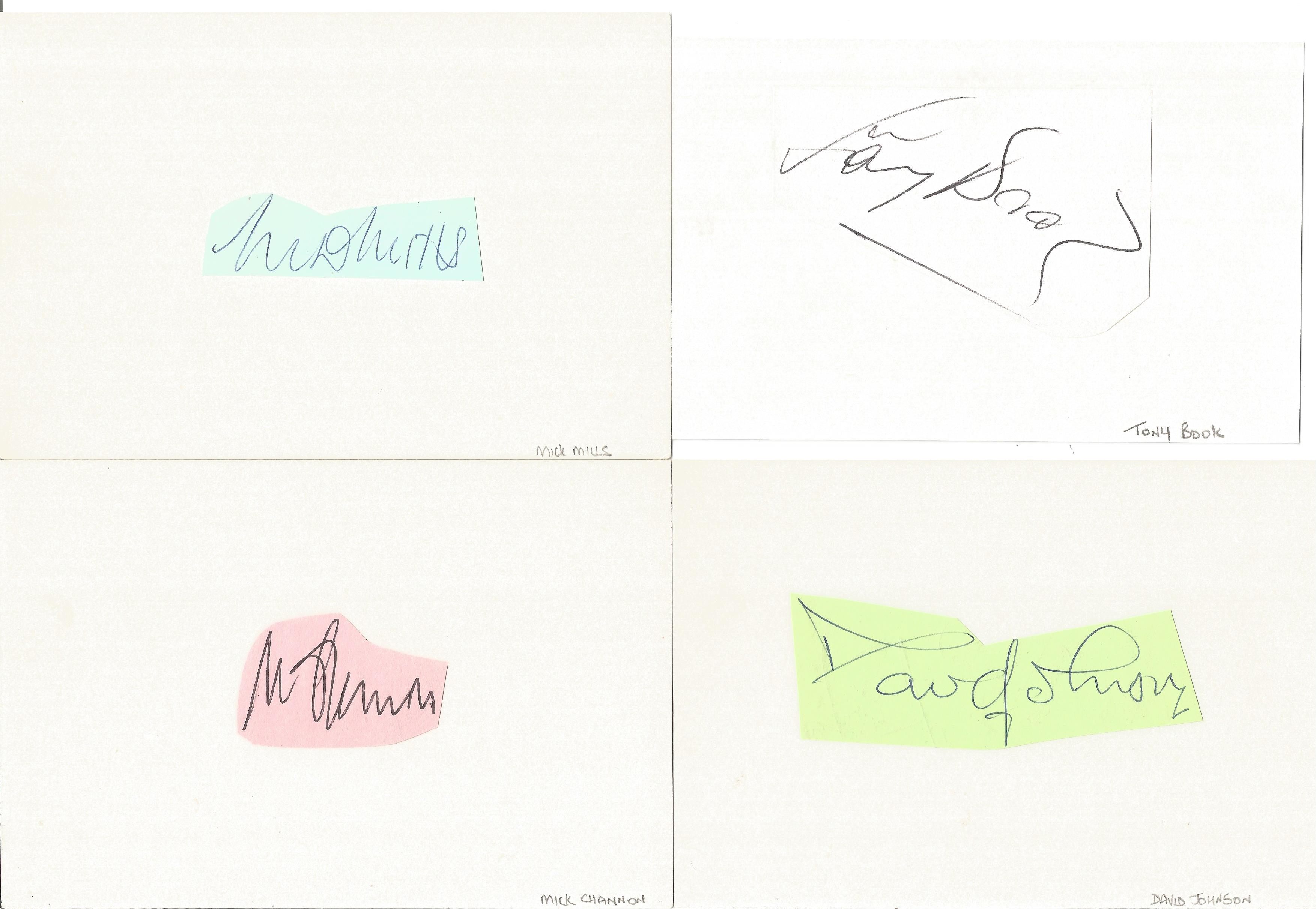 Assorted signature piece collection. 15+ included. Some of names included are Alan Rogers, Tony - Image 4 of 5
