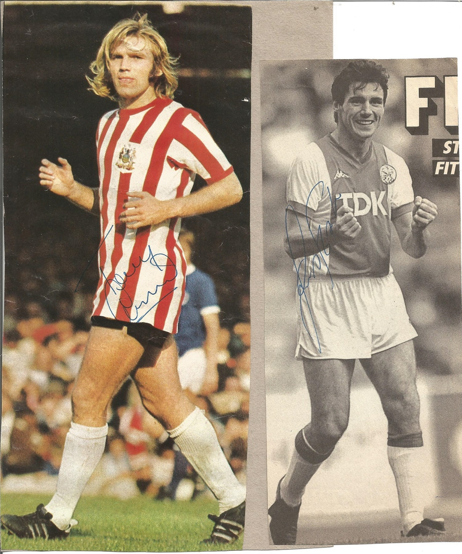Football Collection Signed and Unsigned Magazine Cuttings and Signature Pieces, Including Andy - Image 5 of 8
