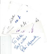 Bargain collection 7. 50 Actor and Actress signed cards from in person collector unsorted. Signed