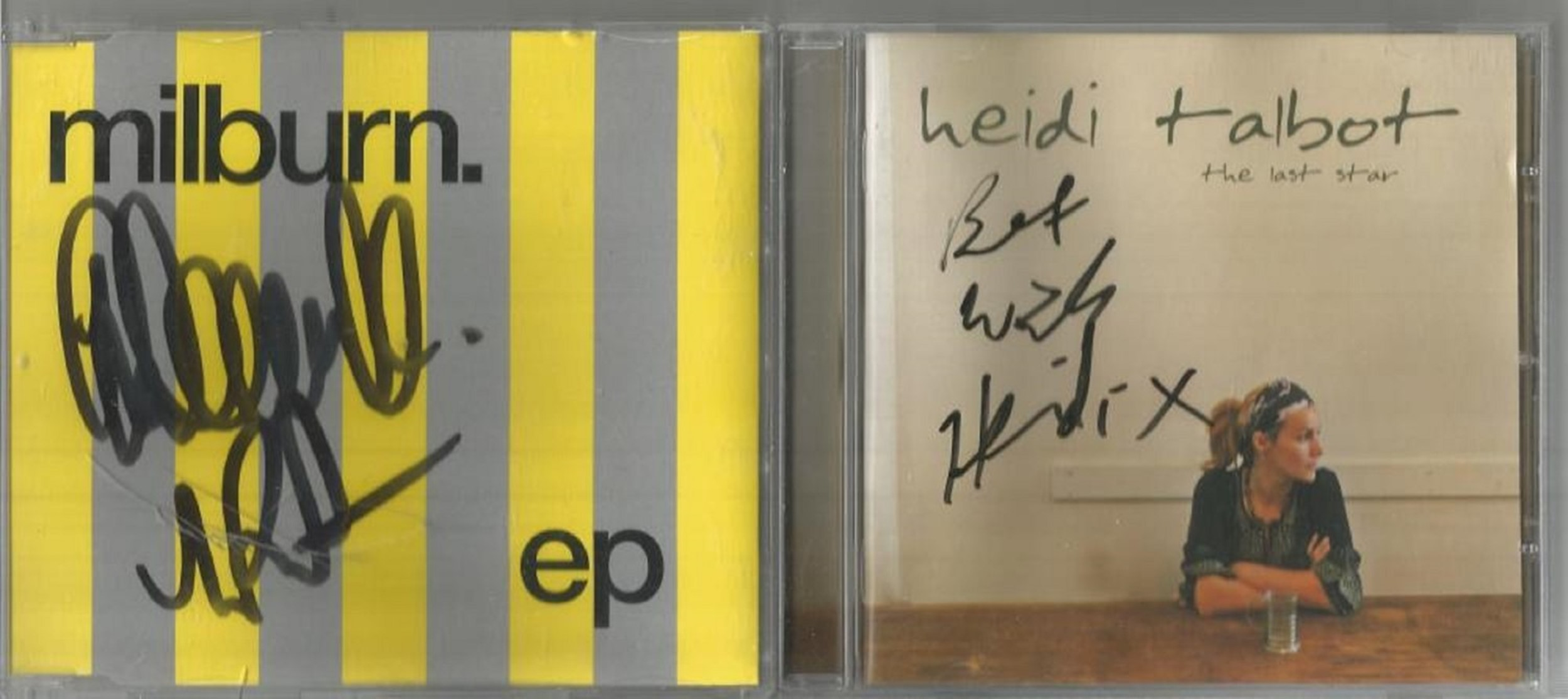 6 Signed CDs Including The East Coast Boys Big Girls Don't Cry Disc Included, Heidi Talbot The
