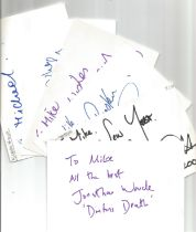 Bargain collection 6. 50 Actor and Actress signed cards from in person collector unsorted. Signed