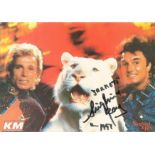 Siegfried and Roy signed 6x4 colour postcard. Good condition. All autographs come with a Certificate