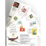 Collection of 9 Signed and Unsigned Royal Visit FDC, Various Stamps and FDI Postmarks 1939 to