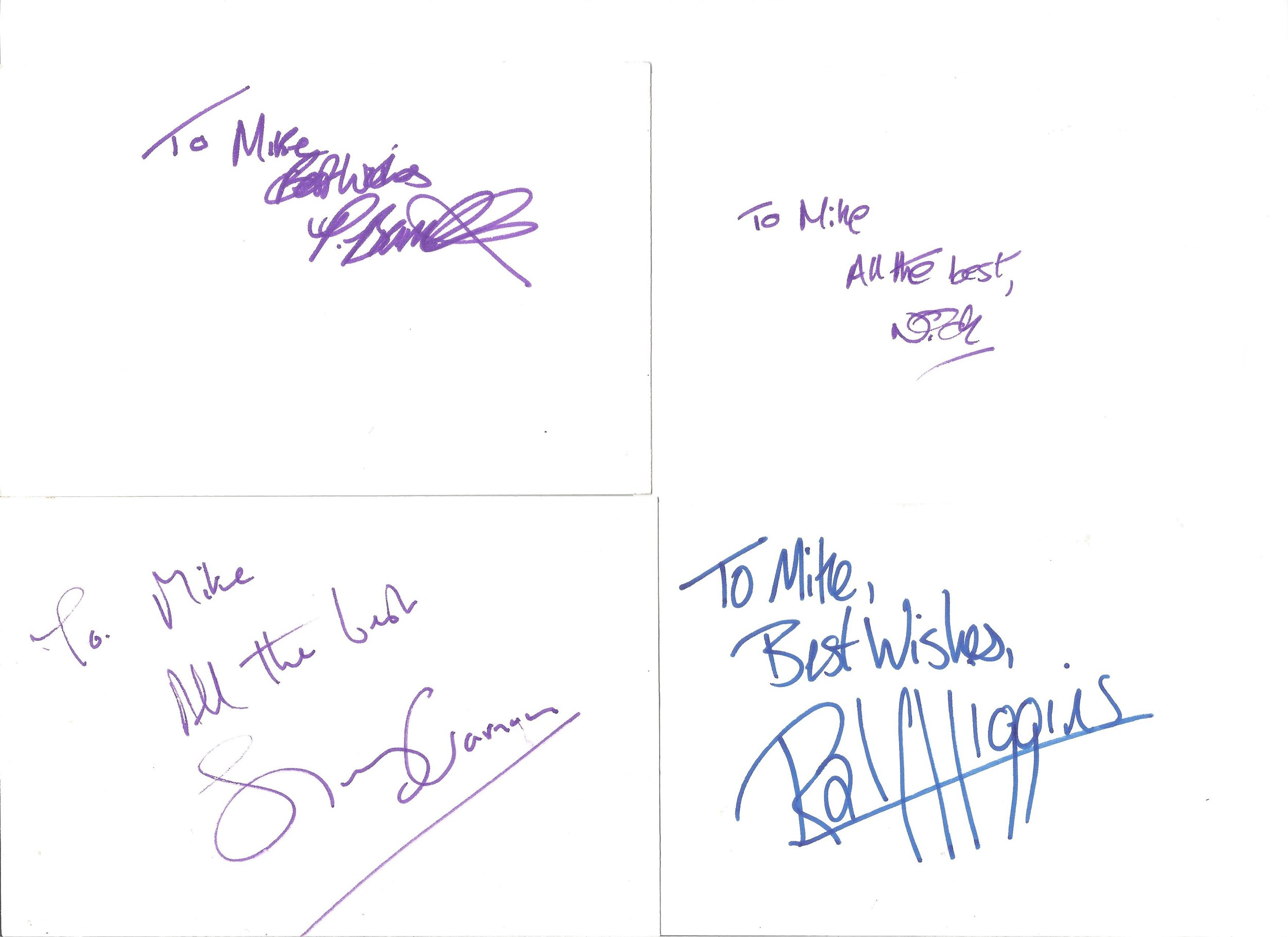 Collection of 50 Actor and Actress Signed 6 x 4 White Cards, Including Thomas Goodridge, Barry - Image 4 of 5
