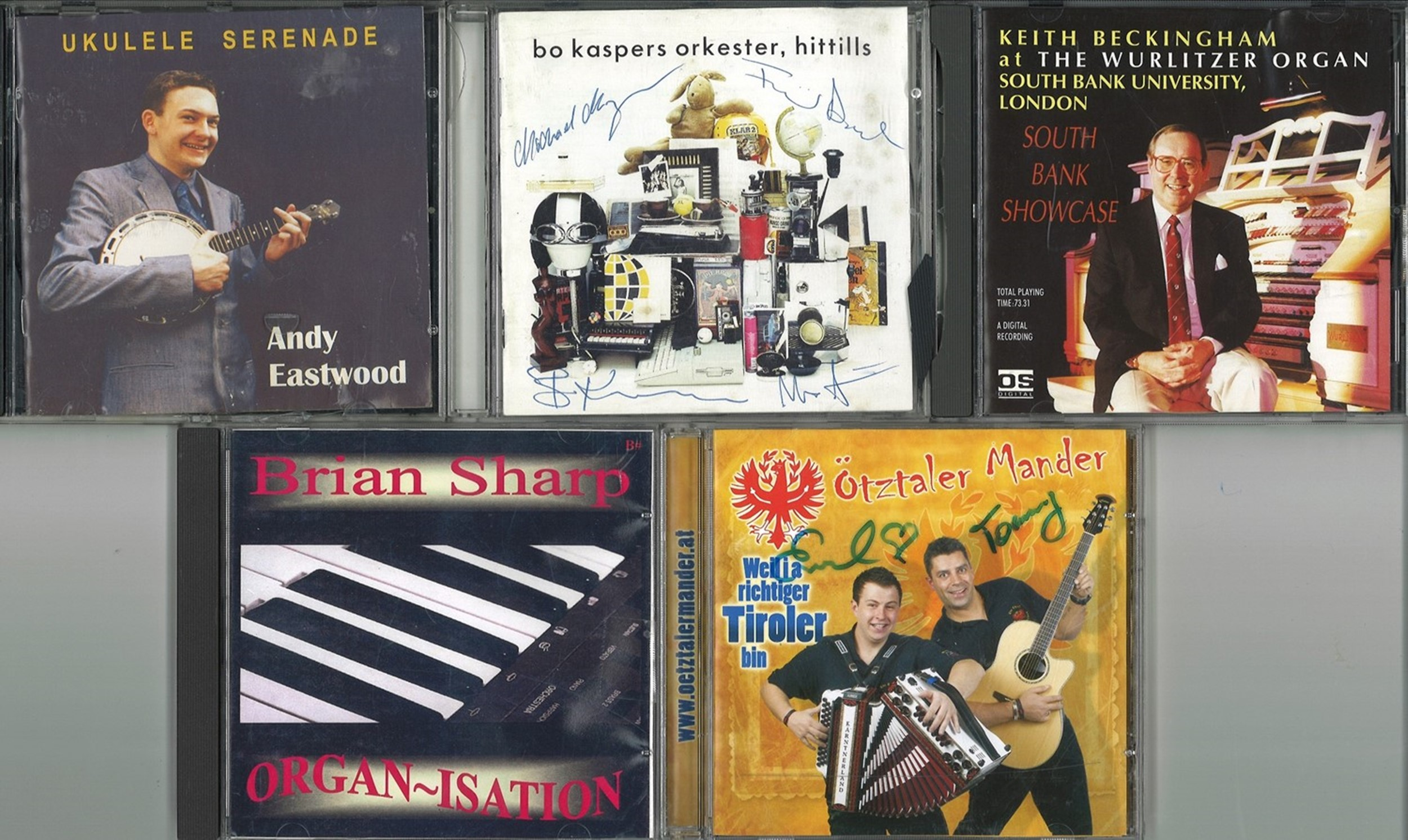 5 Signed CDs, A mixture of Organ and Orchestral Music, Including Keith Beckingham at the Wurlitzer
