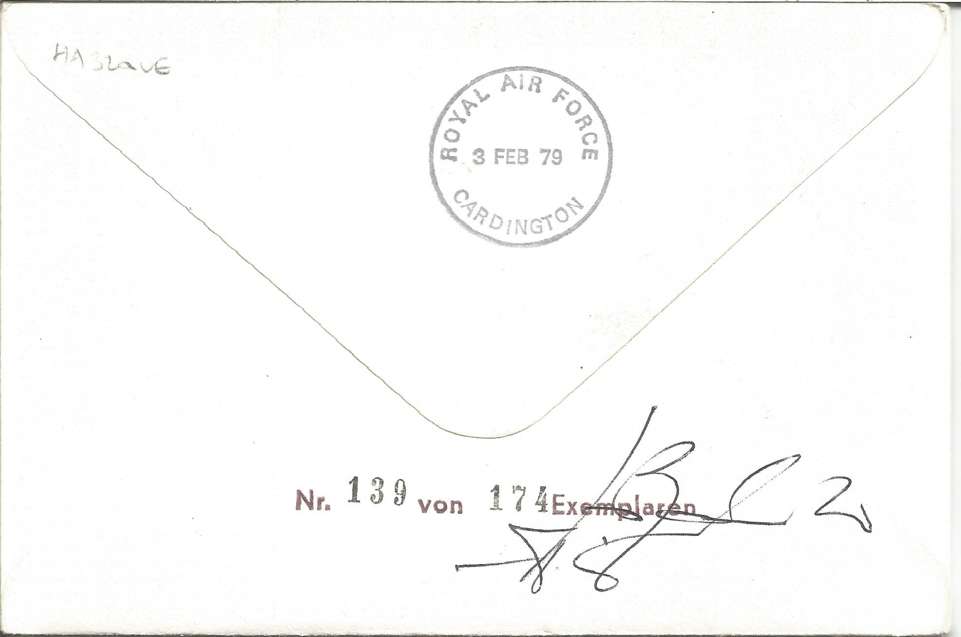 Col. Clarence E. Anderson and Cpt. Werner Vermehren signed Captain William Leefe Robinson VC FDC No. - Image 2 of 2