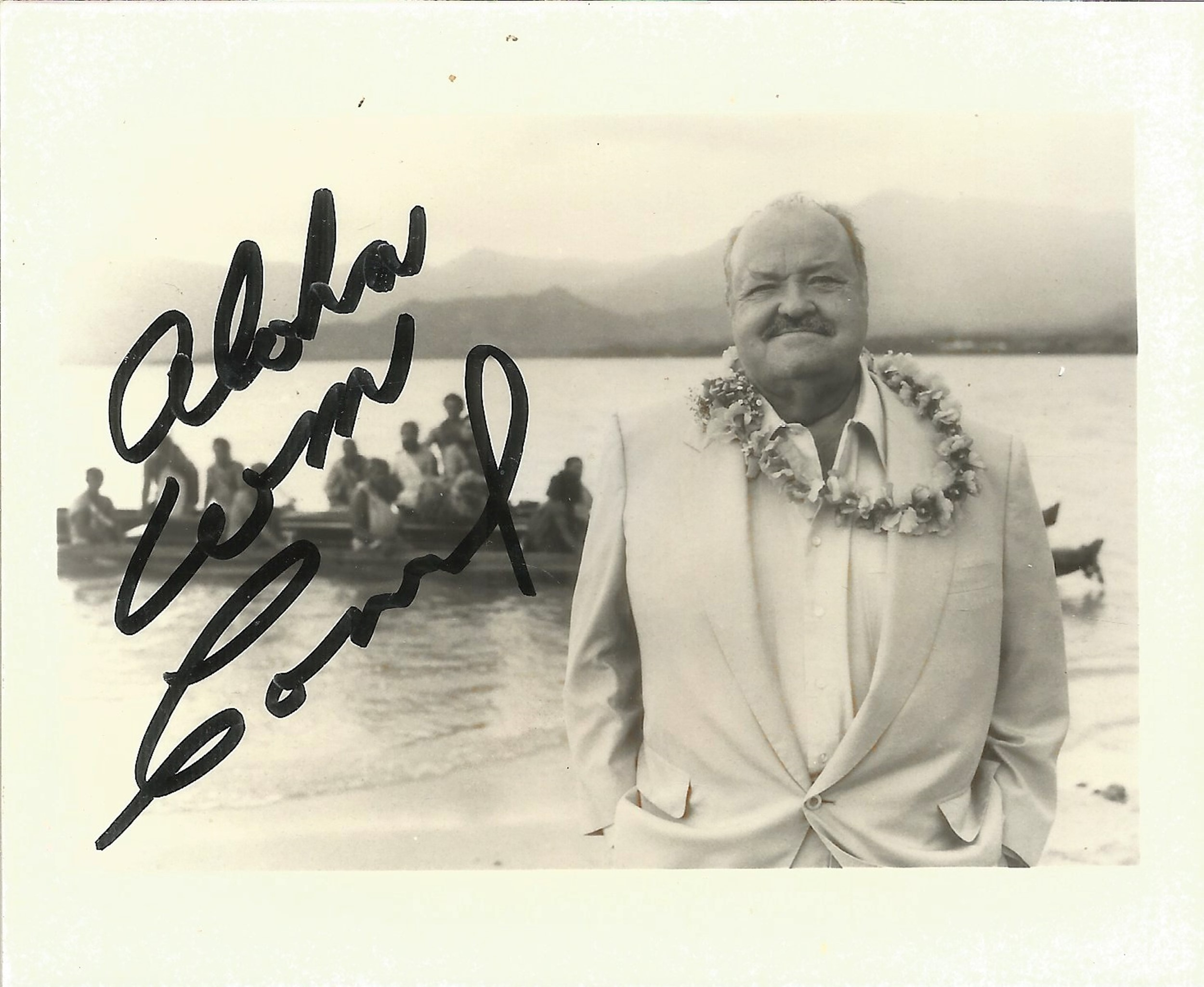 William Conrad signed 5x3 black and white photo. Good condition. All autographs come with a