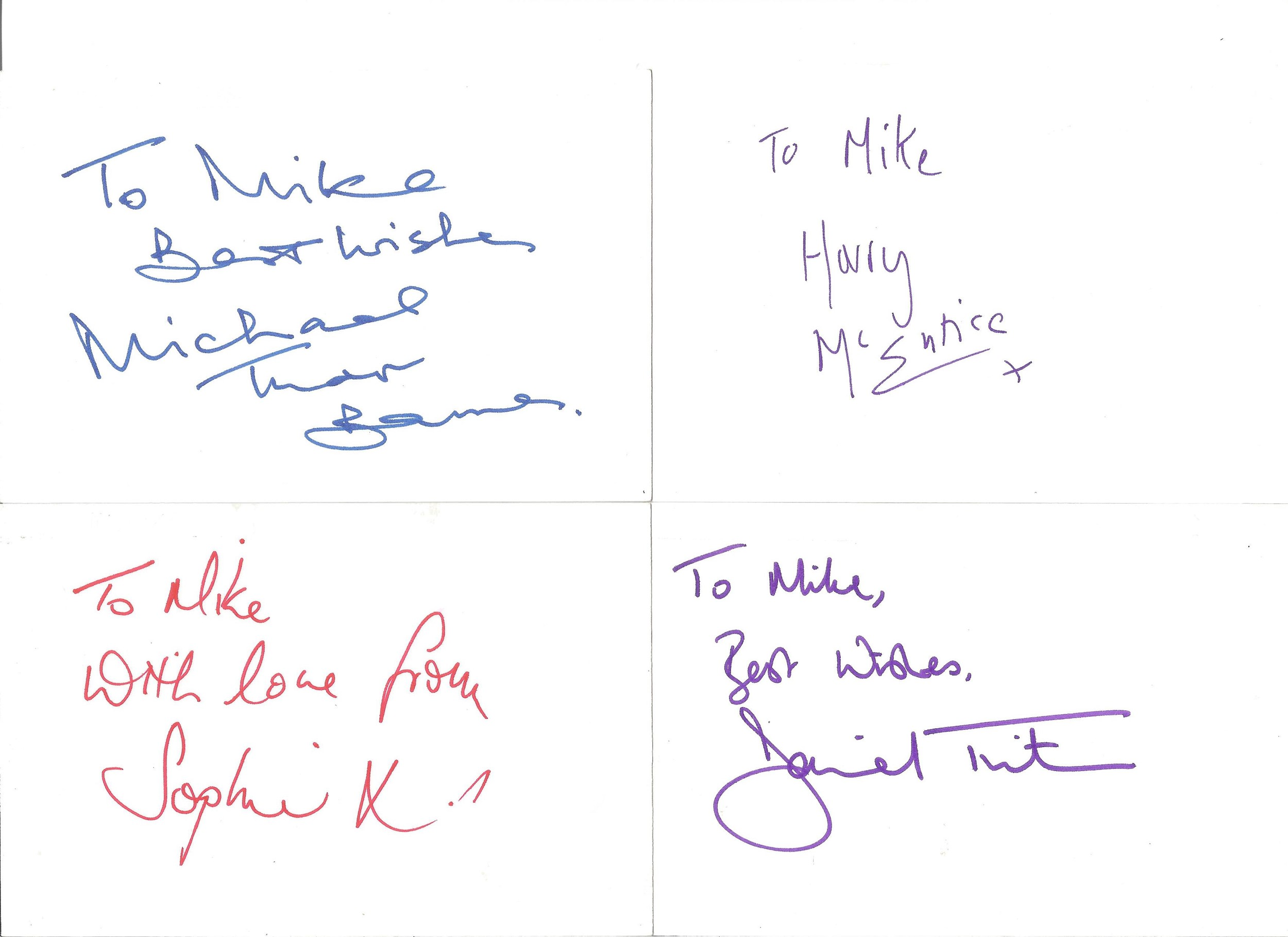 Collection of 50 Actor and Actress Signed 6 x 4 White Cards, Including Peter McGovern, Paul - Image 2 of 4