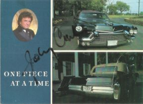 Johnny Cash signed 6x4 colour postcard. February 26, 1932 - September 12, 2003, was an American