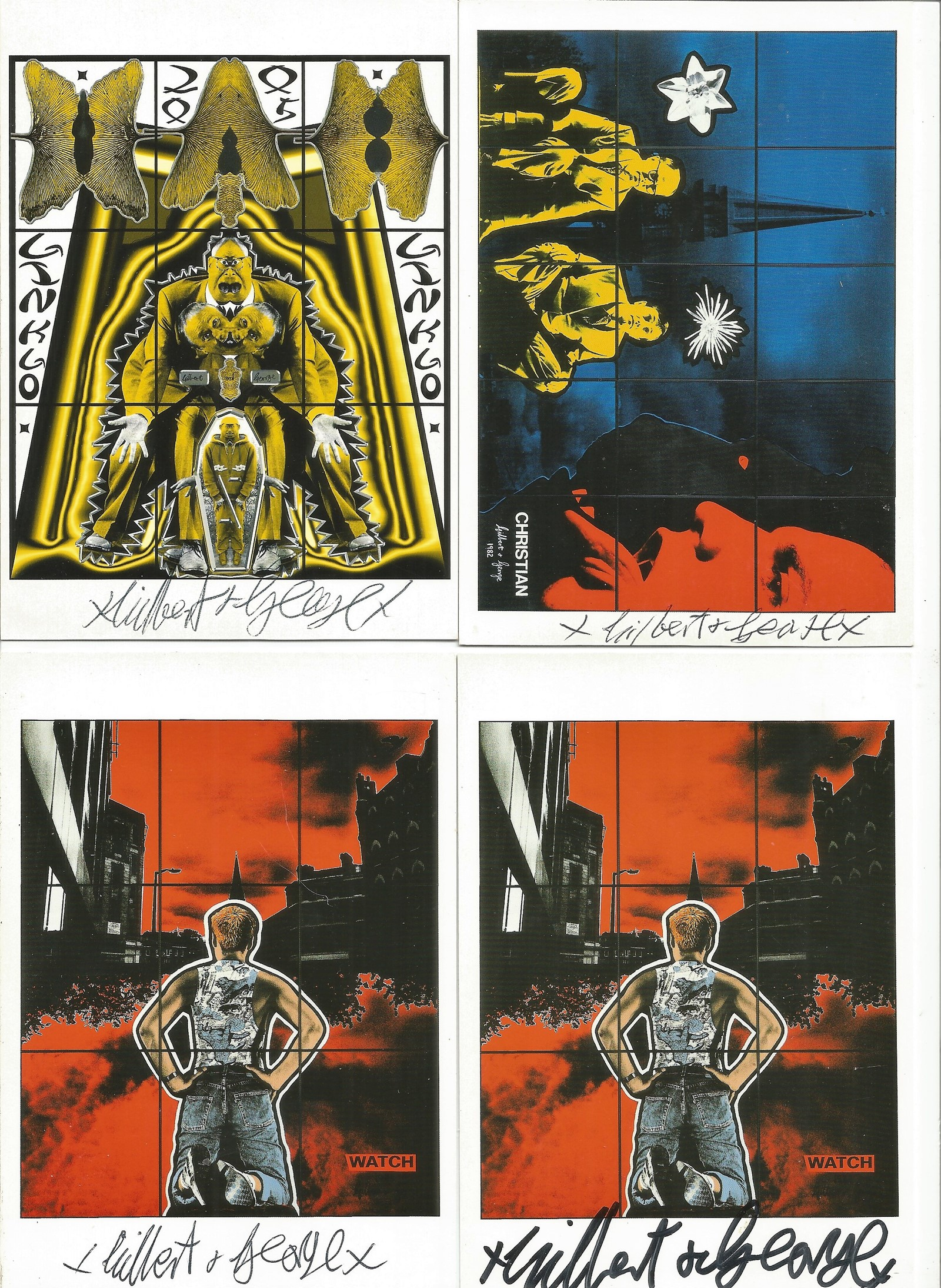 Gilbert and George signed postcard collection. 6 included. Good condition. All autographs come