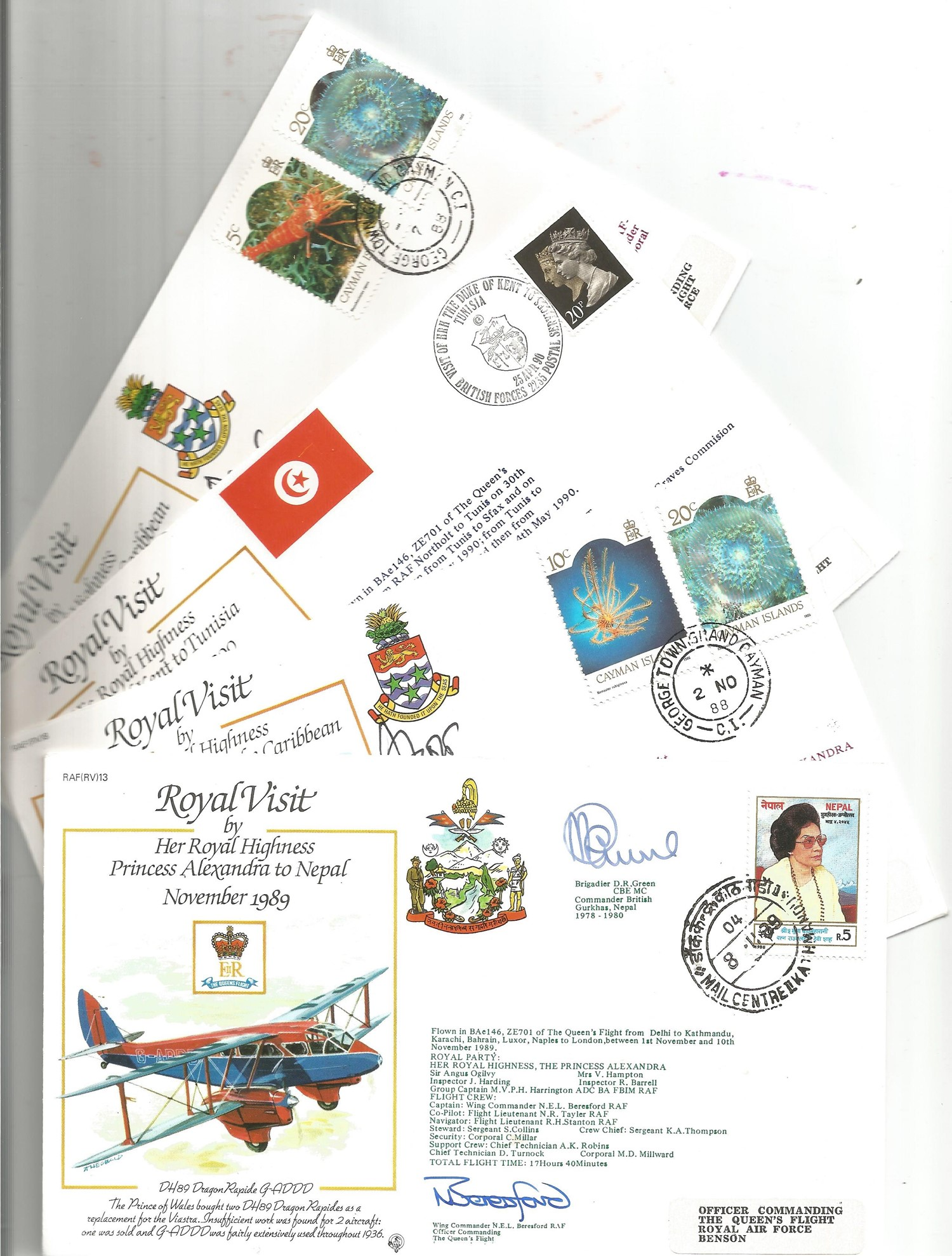 Collection of 9 Signed and Unsigned Royal Visit FDC, Various Stamps and FDI Postmarks 1939 to - Image 2 of 2