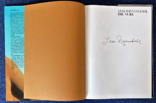 Leni Riefenstahl actress signed inside large Hardback Book Die Nuba. Condition 8/10. Good condition.