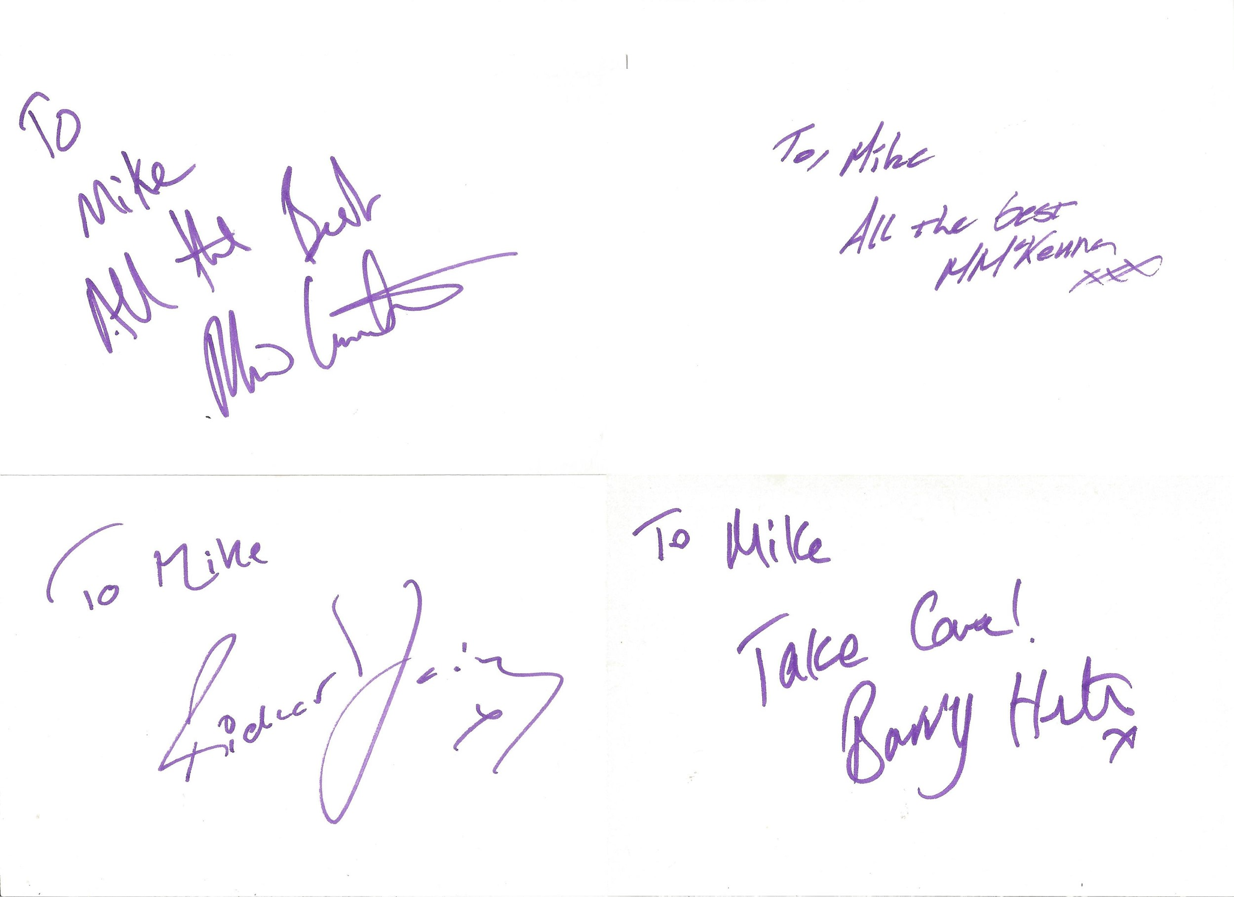 Collection of 50 Actor and Actress Signed 6 x 4 White Cards, Including Thomas Goodridge, Barry - Image 3 of 5