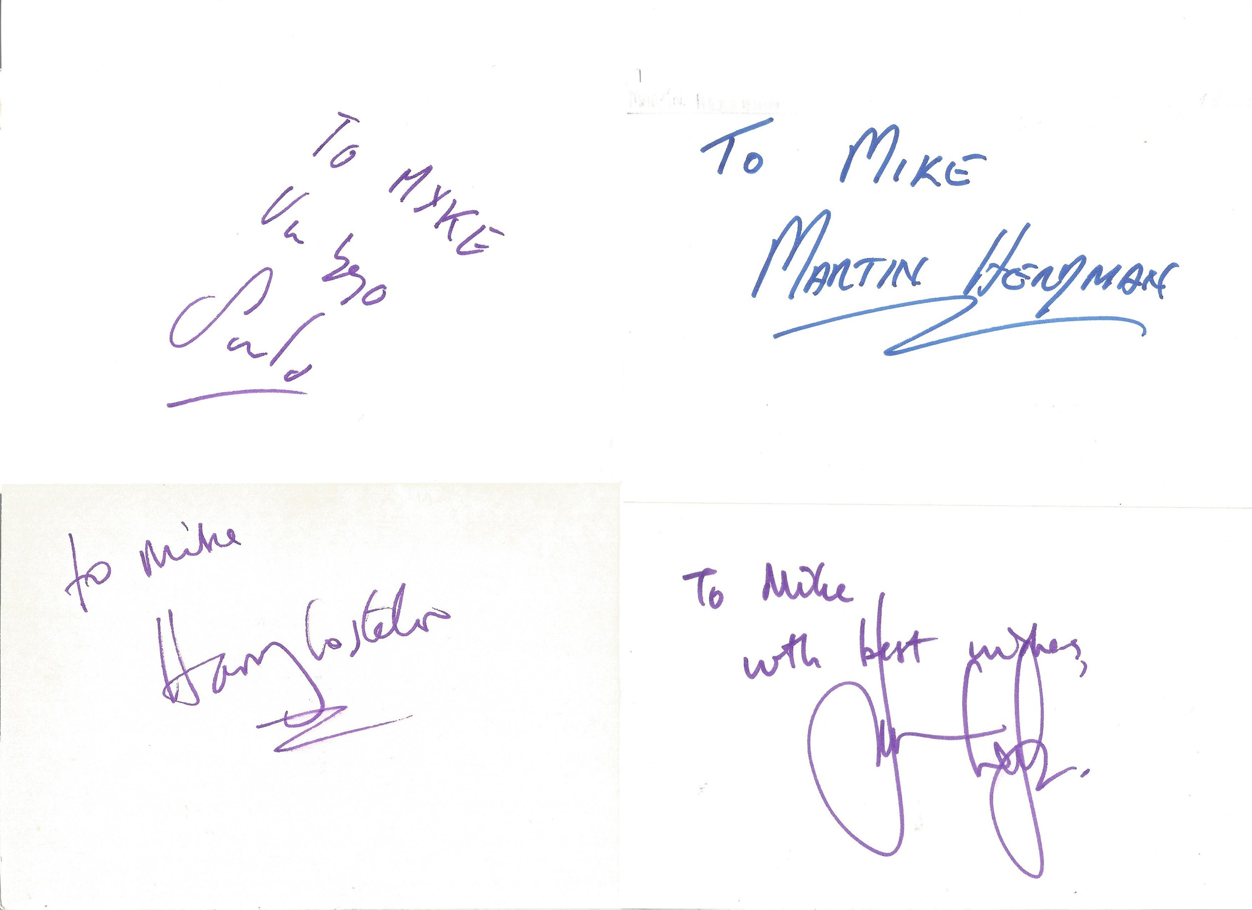 Collection of 50 Actor and Actress Signed 6 x 4 White Cards, Including Thomas Goodridge, Barry - Image 5 of 5
