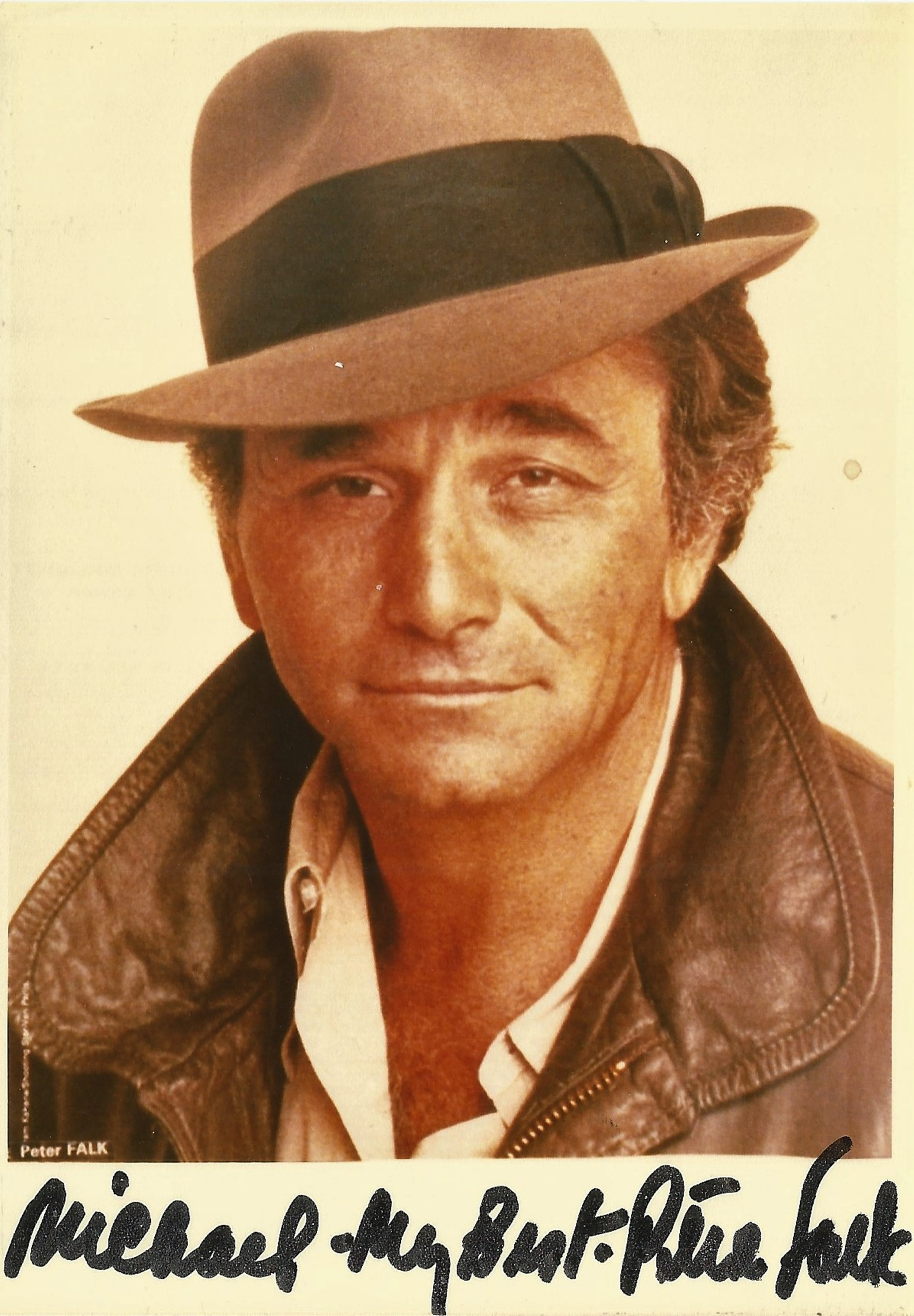 Peter Falk signed 6x4 colour photo. Good condition. All autographs come with a Certificate of