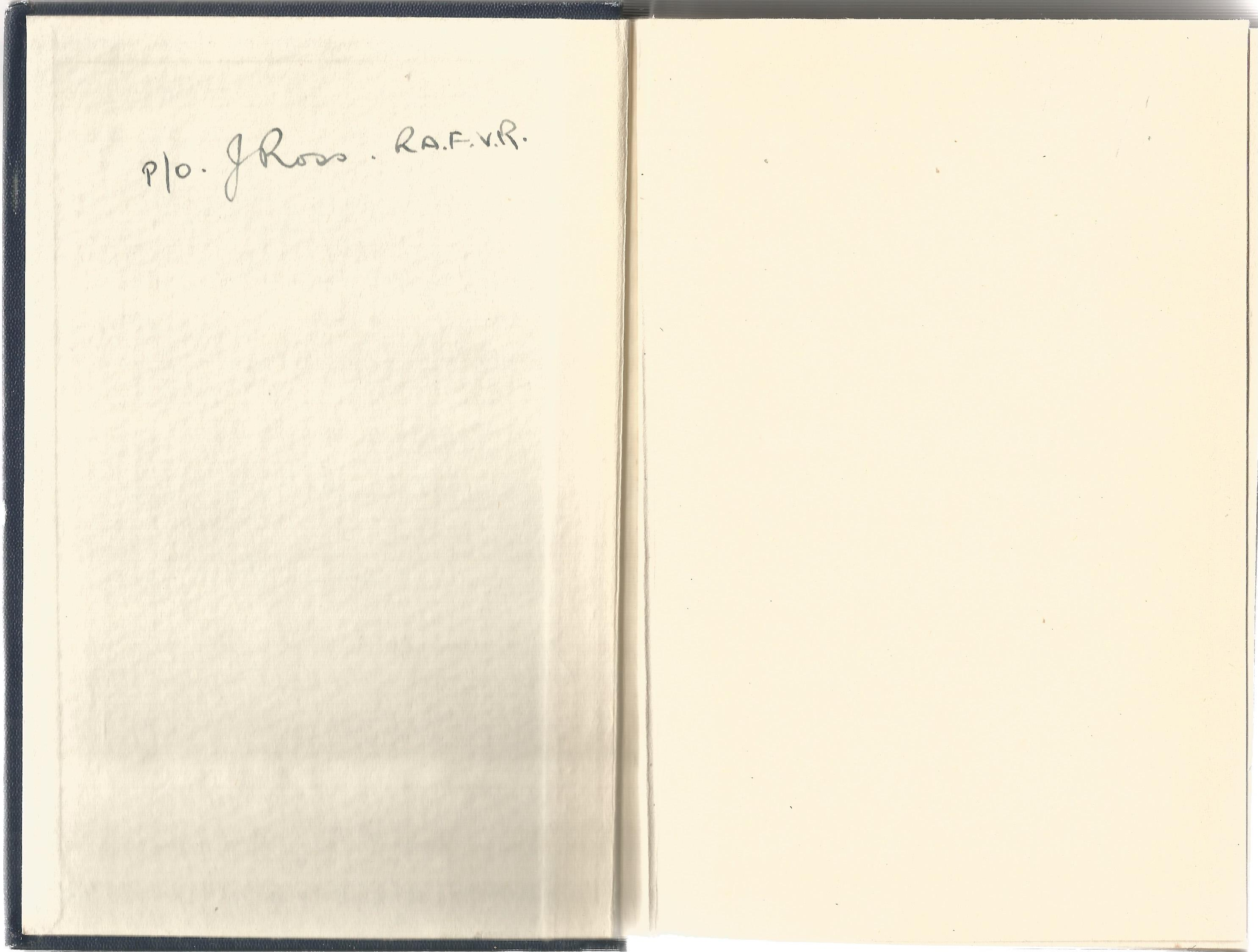 Frank A Swoffer MBE. Learning To Fly. A Fith Edition hardback book. Signed by P/O J Ross RAF.VR, - Image 3 of 3