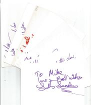 Bargain collection 2. 50 Actor and Actress signed cards from in person collector unsorted. Signed